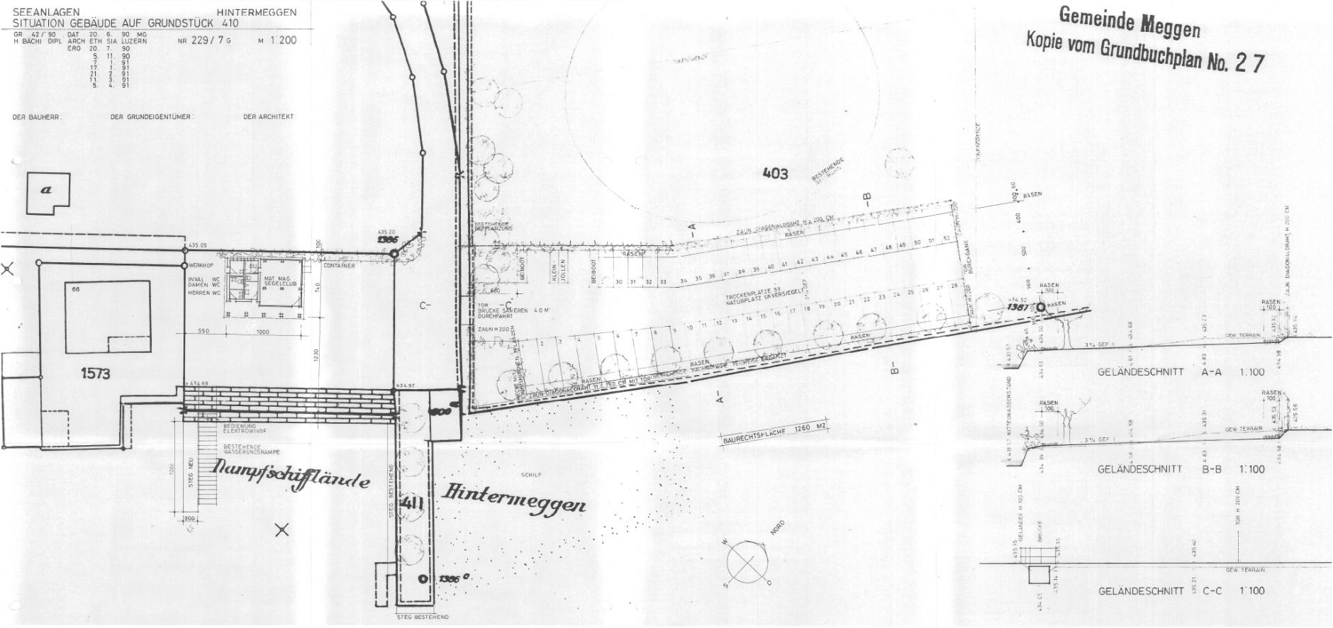 Historisch: Planung 1991 Situation – H. Bächi