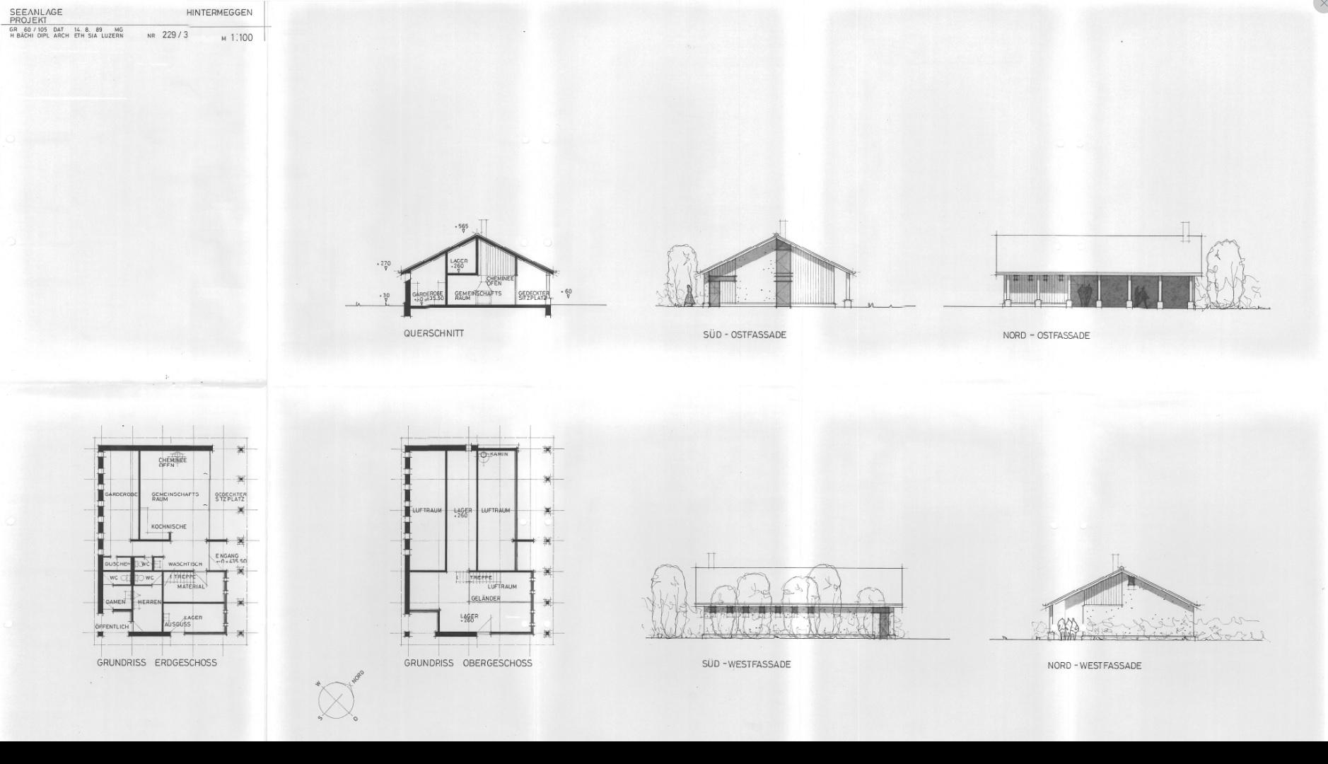Historisch: Planung 1989 Übersicht – H. Bächi
