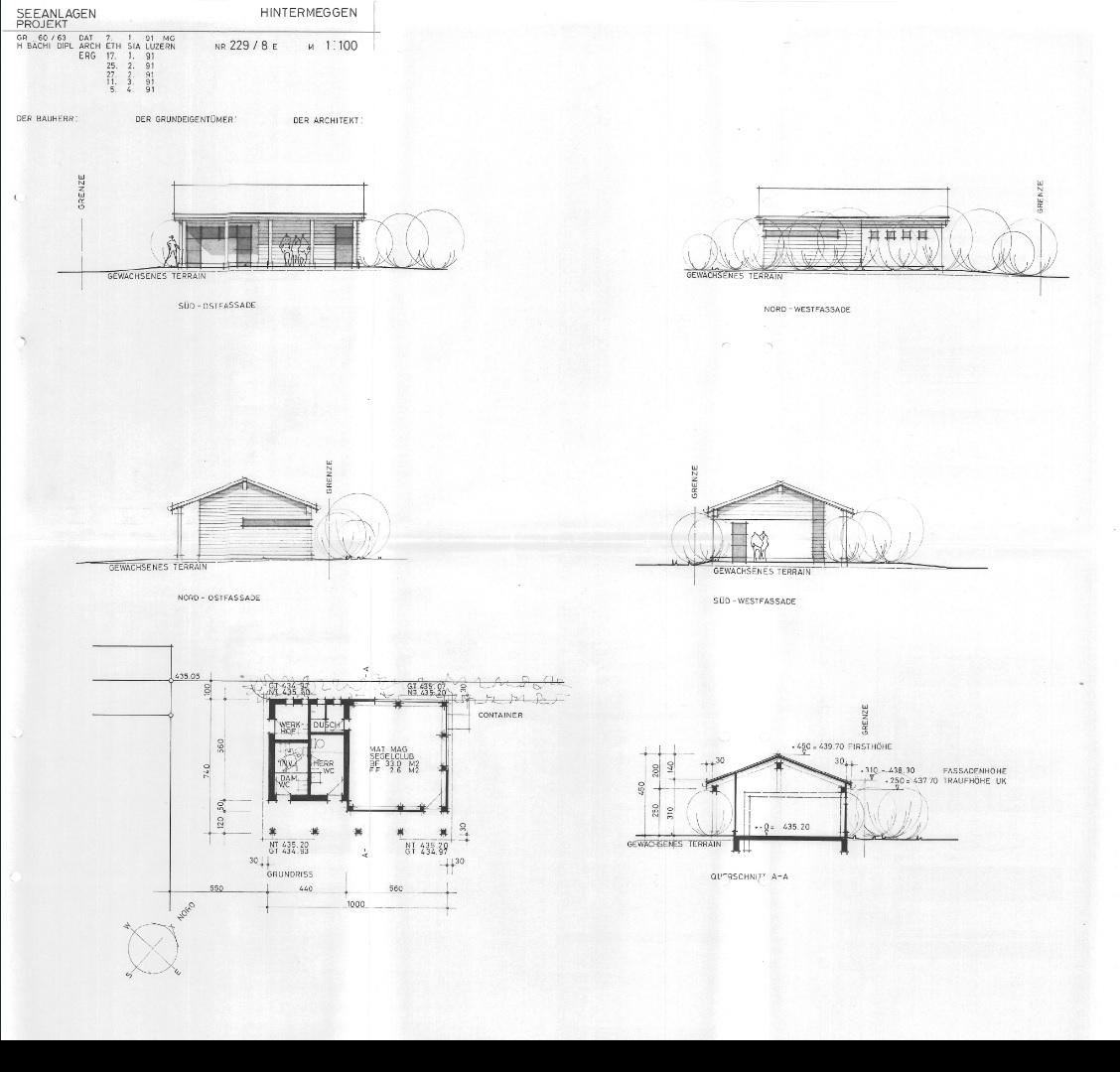 Historisch: Planung 1991 Übersicht – H. Bächi