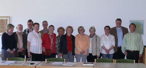Der Neue Vorstand der Bürgervereinigung Laar mit Huberta Terlinden (4.v.l.).