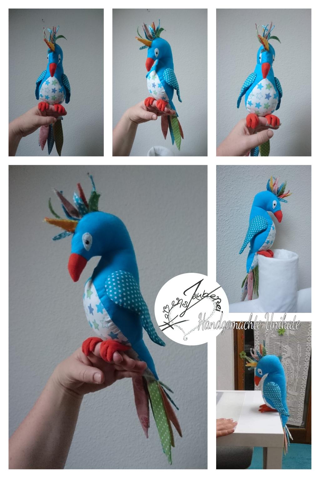 Vogel nach einer Kinderfantasie gefertigt