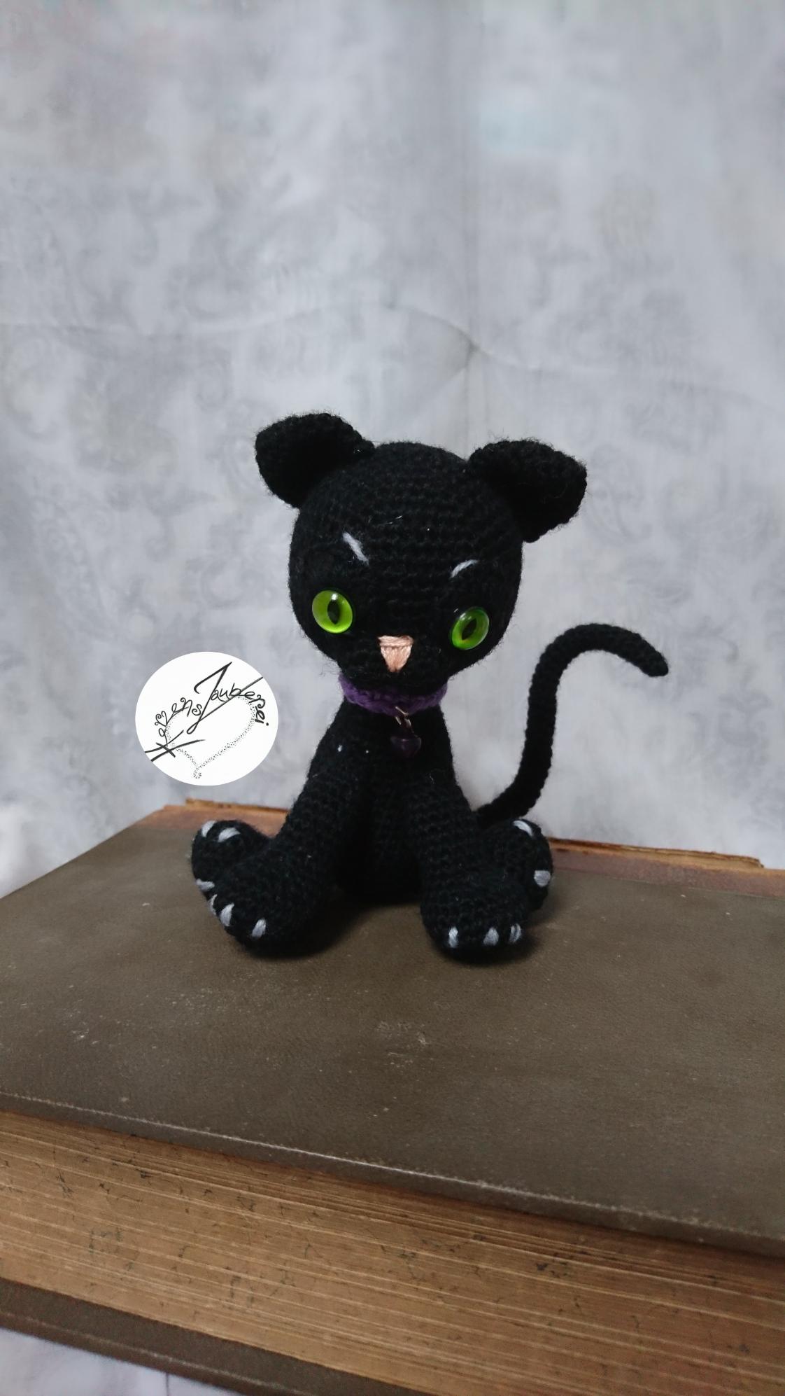 Schwarze Katze, ca 15cm, Chf 38.- in gewünschten Farben machbar