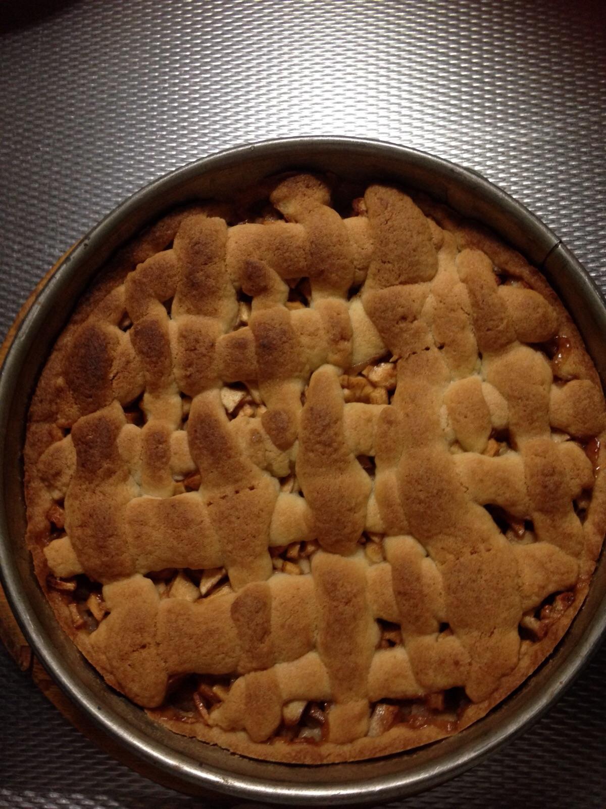 appeltaart gebakken