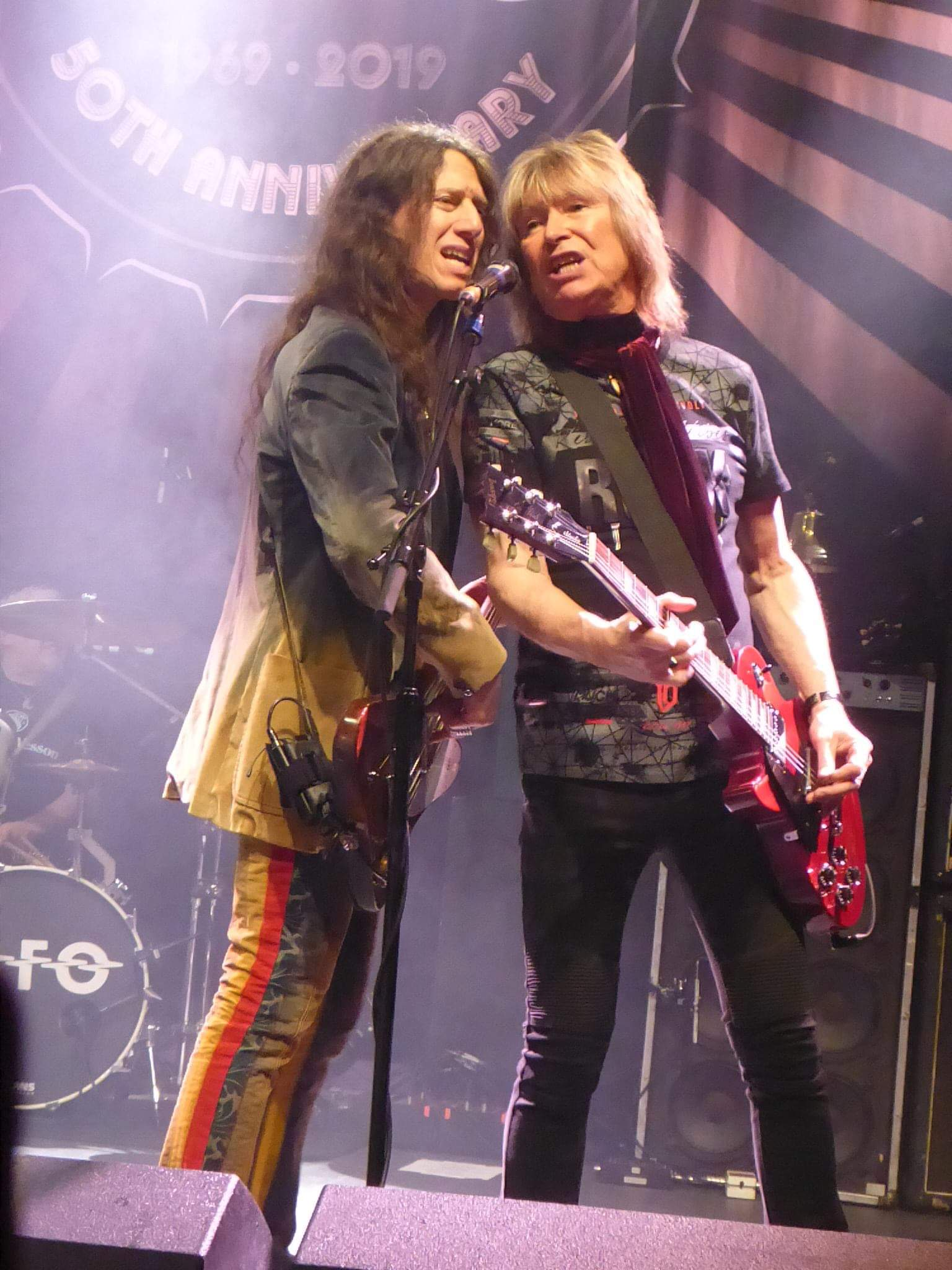 Apparently one of the last photo's taken of UFO and Paul rockin' at the O2 Forum Kentish Town London, April 5th, 2019 - pic by Andy Nathan