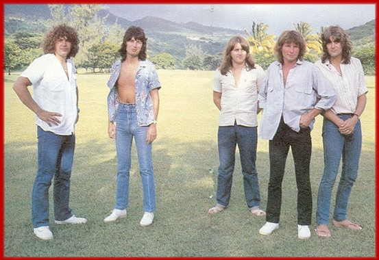 UFO promo photo from 1979 for the 'No Place To Run'