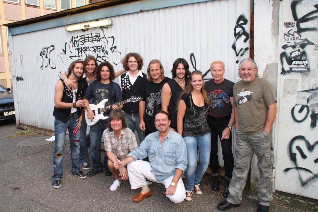 UFO with support act Nightrain in Nuremberg, Germany; July 2010 - pic by Alois C. Braun