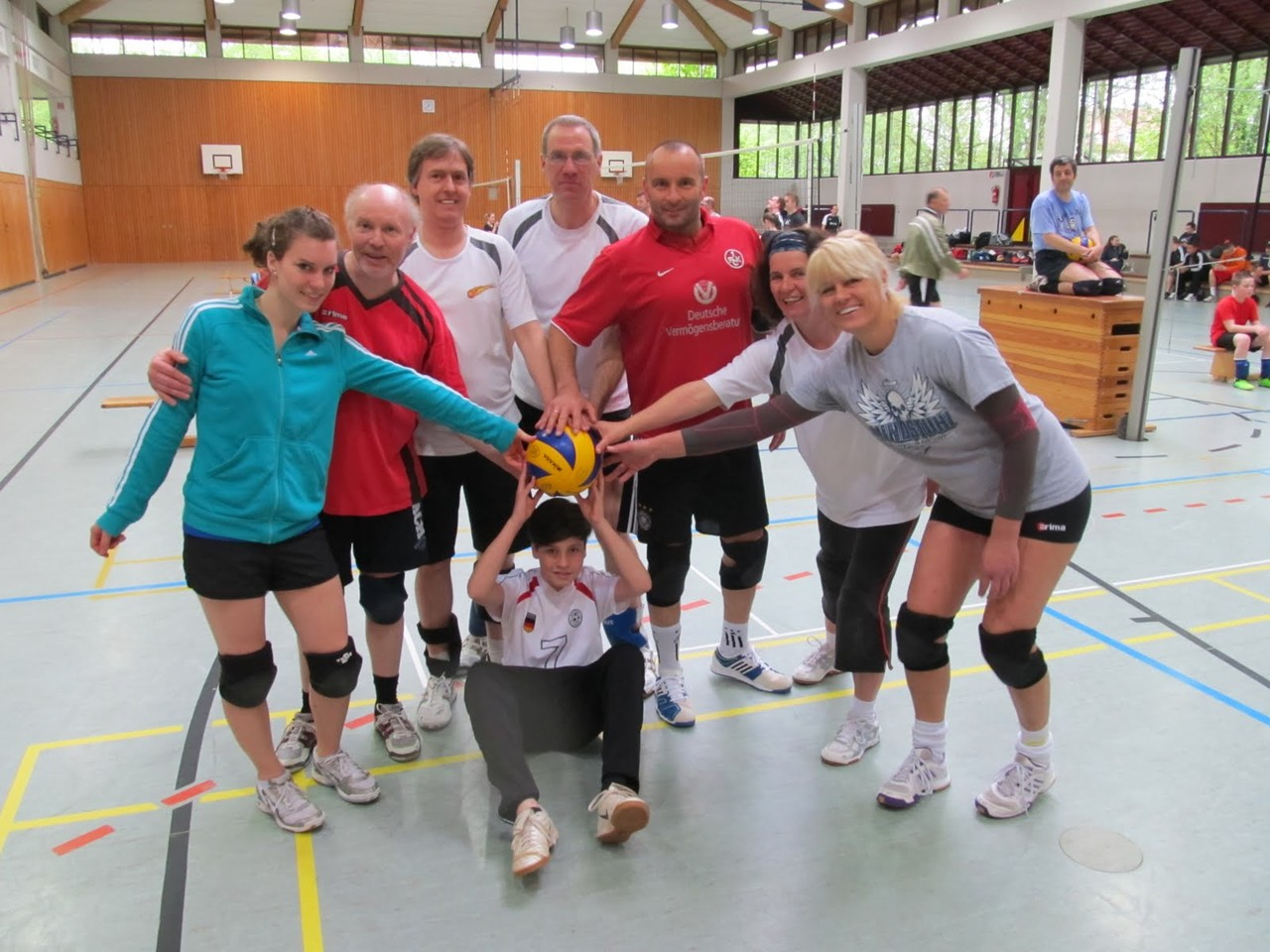 2013 mit Johanna, Kalle, Thilo, Michael, Elisabeth, Dana, vorne: Jakob