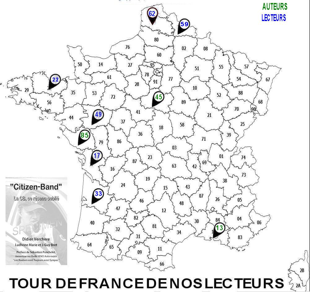 quelques départements du Tour de France des lecteurs