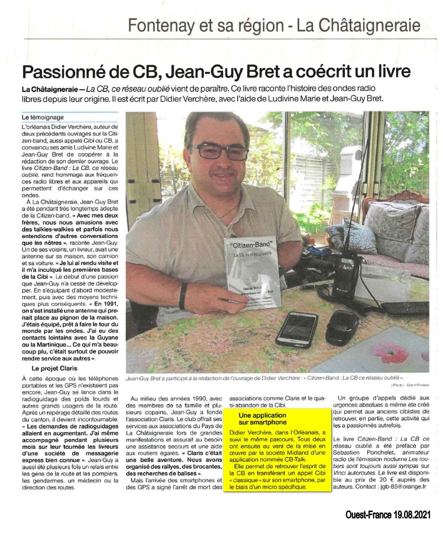 Article de presse Ouest France Vendée 85