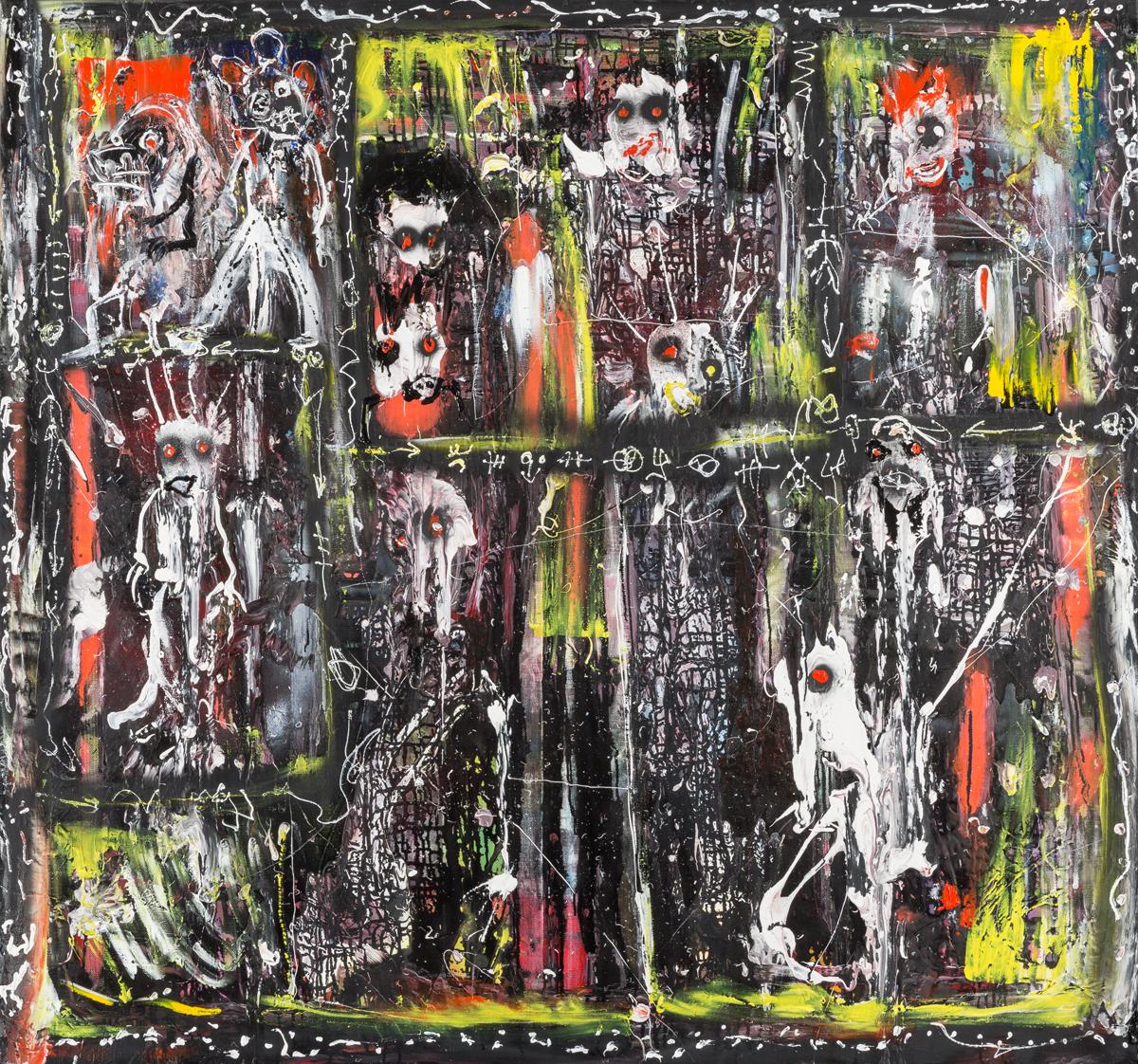 Album de famille (2014) - Acrylique sur toile, 140 x 150 cm