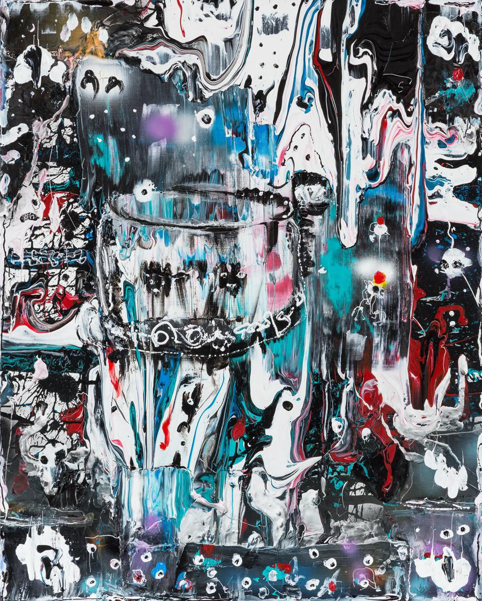 Chimères (2014) - Acrylique sur toile, 100 x 80 cm