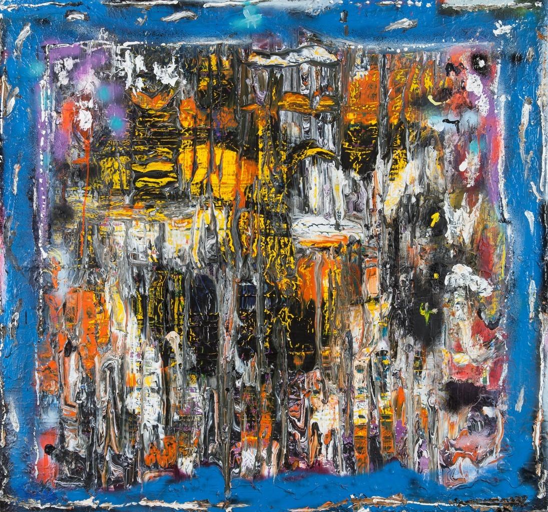 Textures (2012) - Acrylique sur toile,  140 x 150 cm