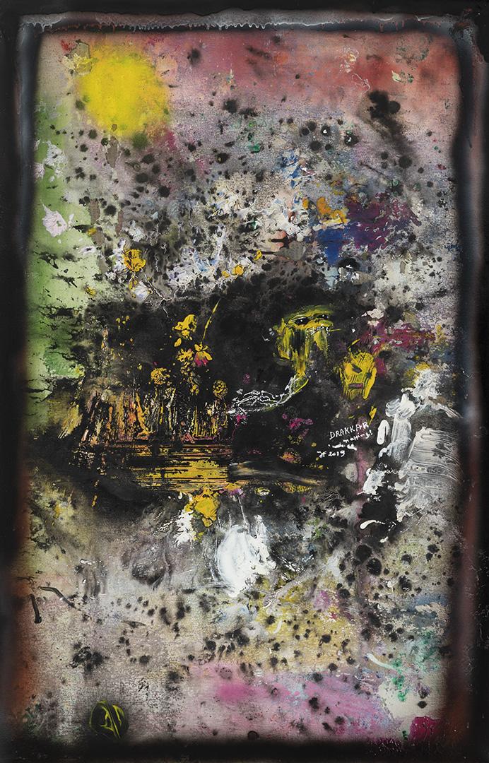 Drakkar (2019) - Acrylique sur toile, 115 x 75 cm