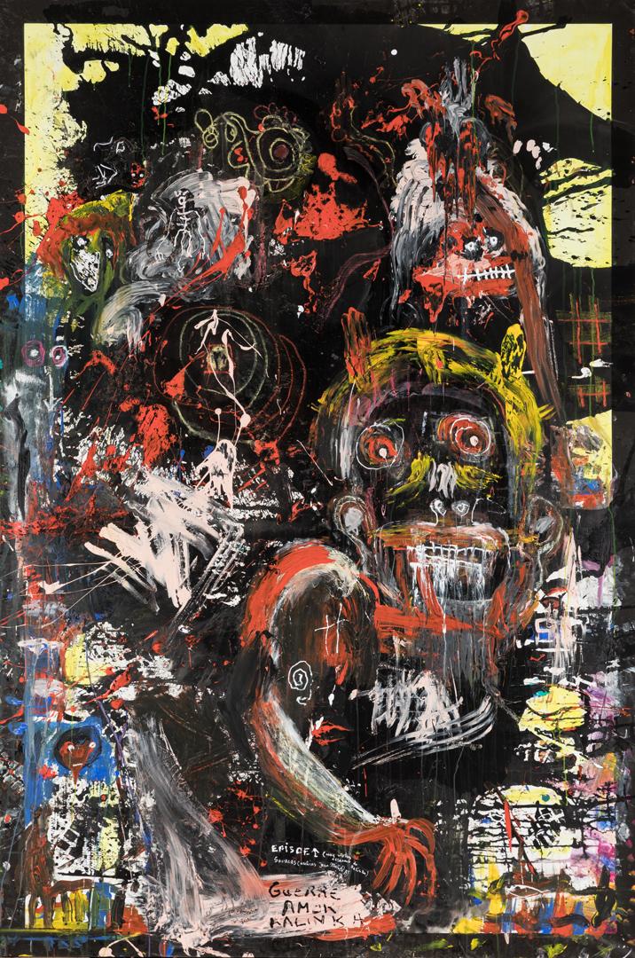 Guerre Amok Kalinka (2016) - Acrylique sur toile 300 x 200 cm