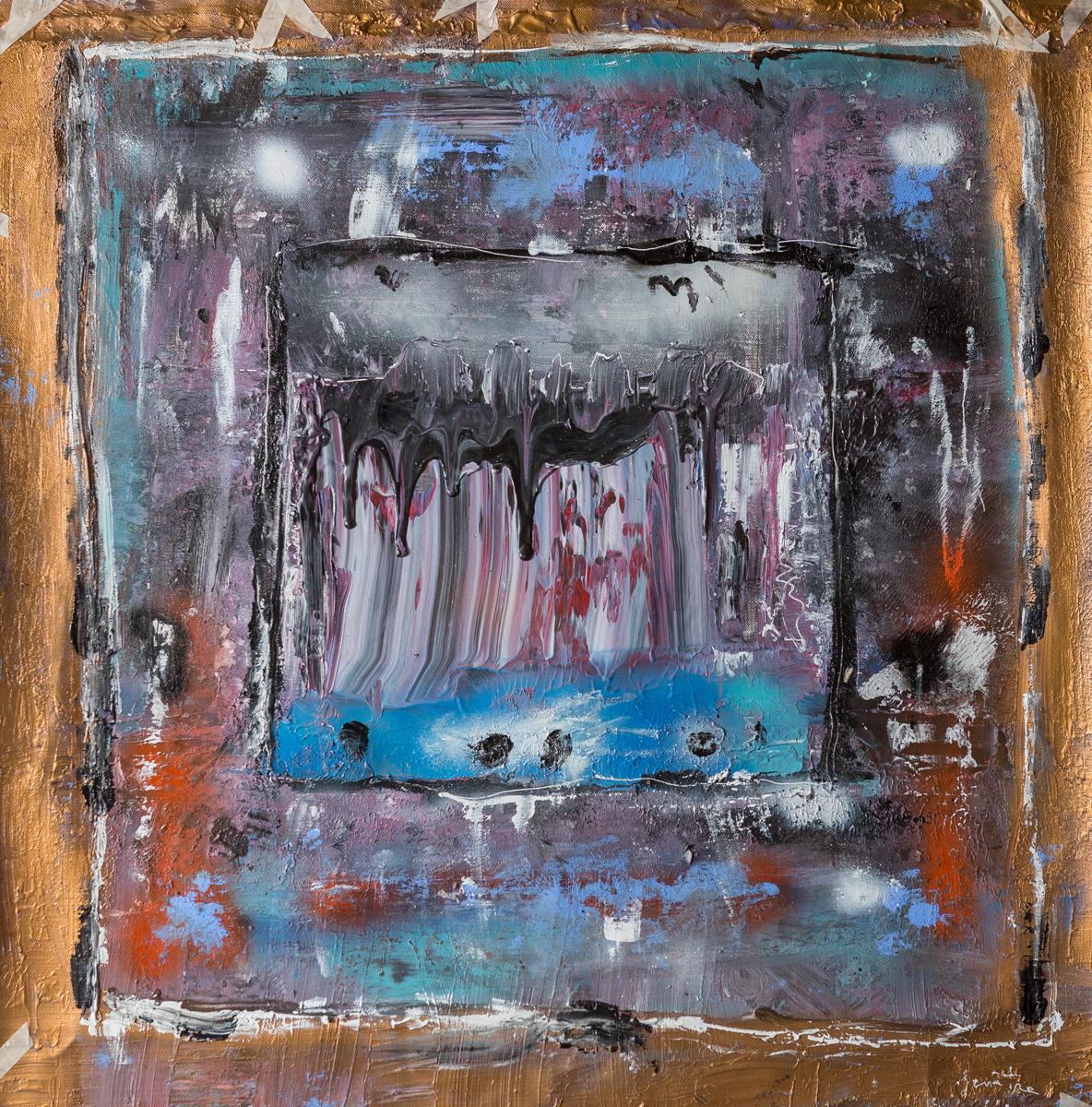 Fenêtre sur l'au-delà (2013) - Acrylique sur toile, 118 x 112 cm
