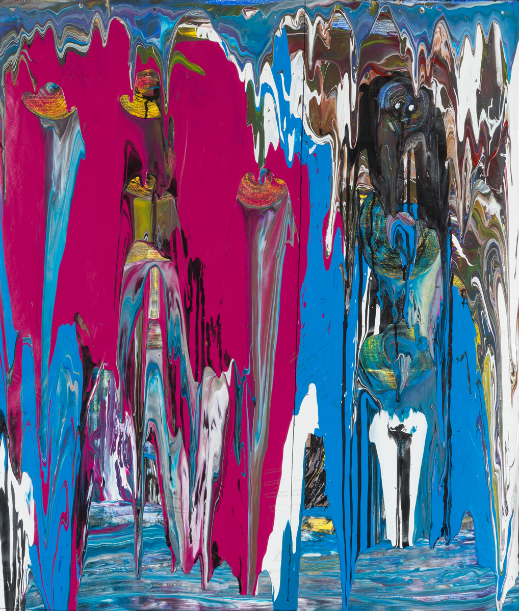 Totems (2014) - Acrylique sur toile, 110 x 90 cm