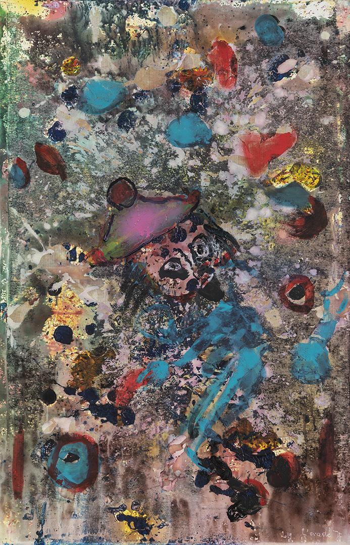L'évadé (2019) - Acrylique sur toile, 115 x 75 cm