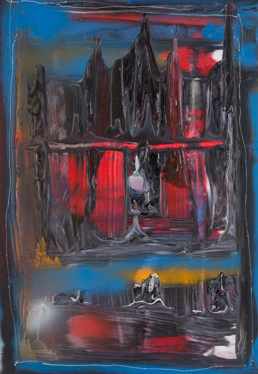 Temple d'Amok - acrylique sur toile