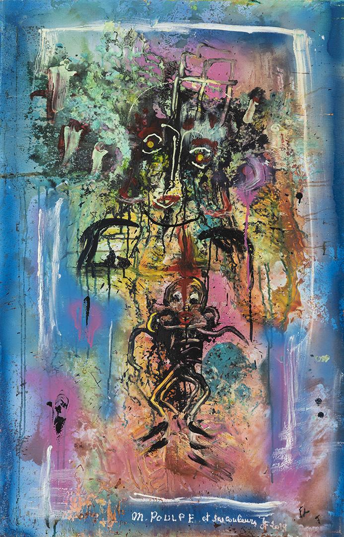 Monsieur Poulpe (2019) - Acrylique sur toile, 115 x 75 cm