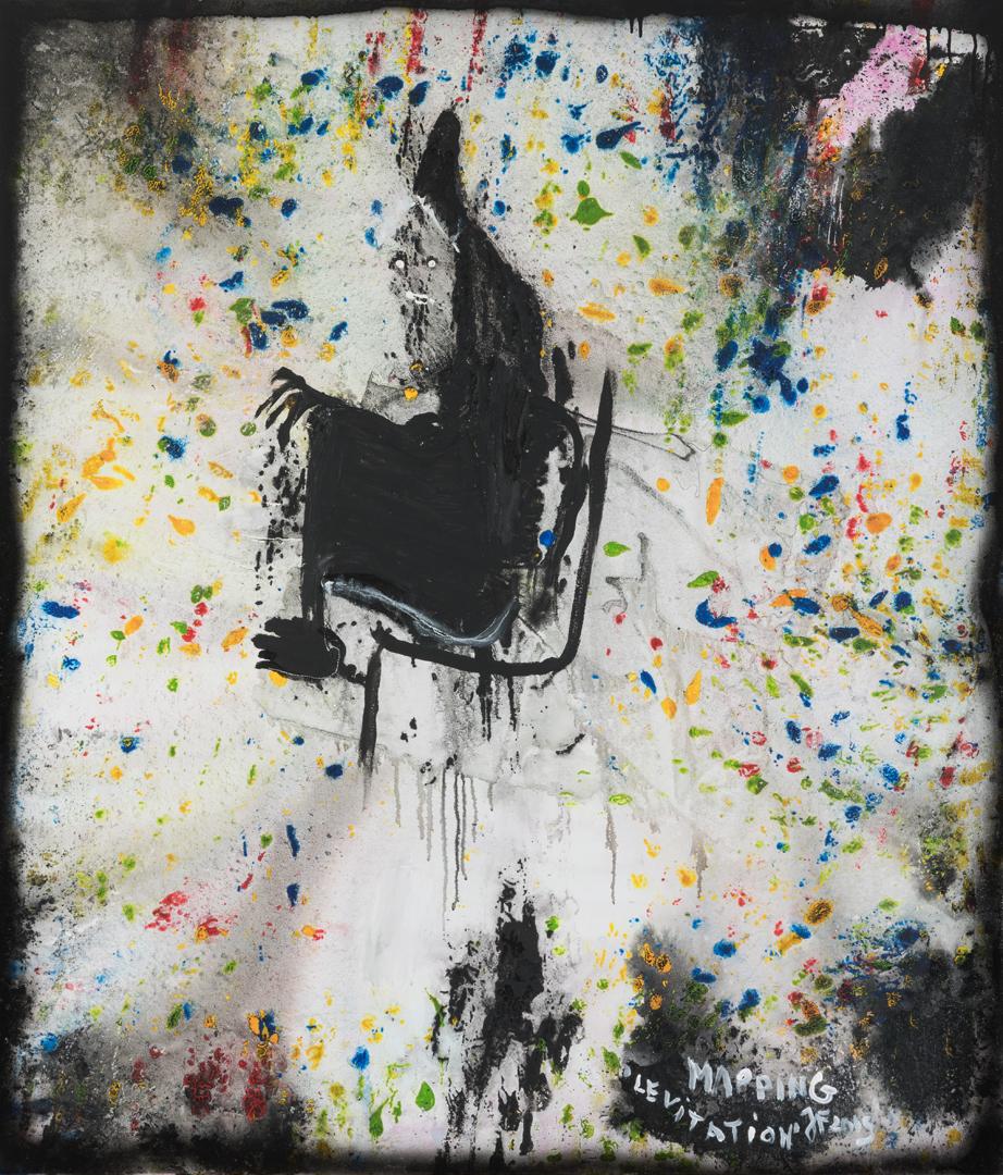 Lévitation (2019) - Acrylique sur toile, 140 x 120 cm