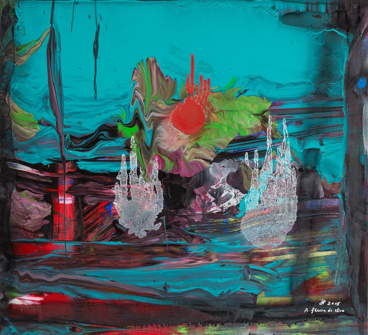 A fleur de rêve (2015) - Acrylique sur toile, 52 x 68 cm