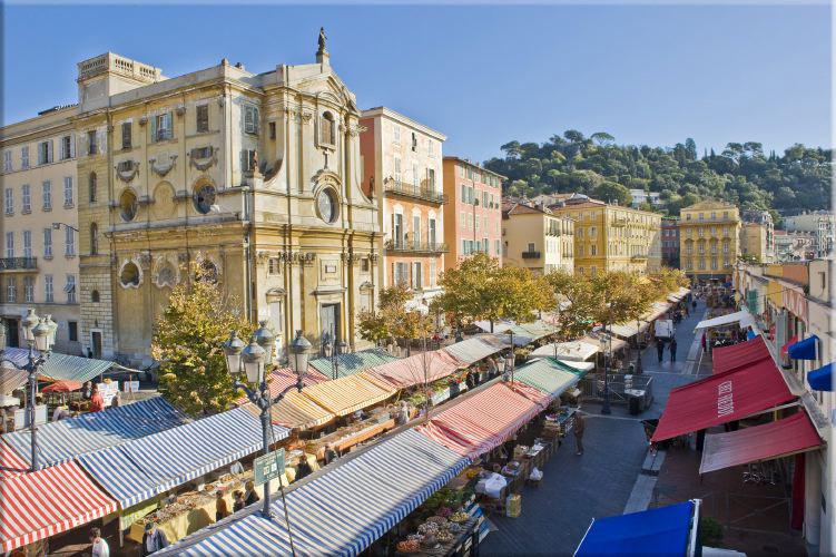 Le marché du Cours Saleya par Hugues Lagarde