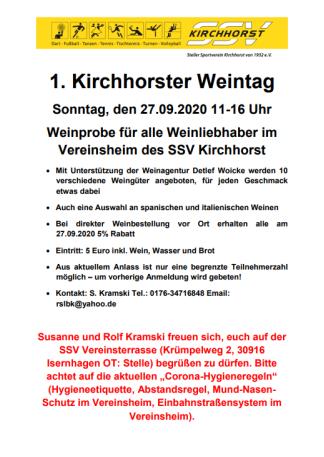 1. Kirchhorster Weintag