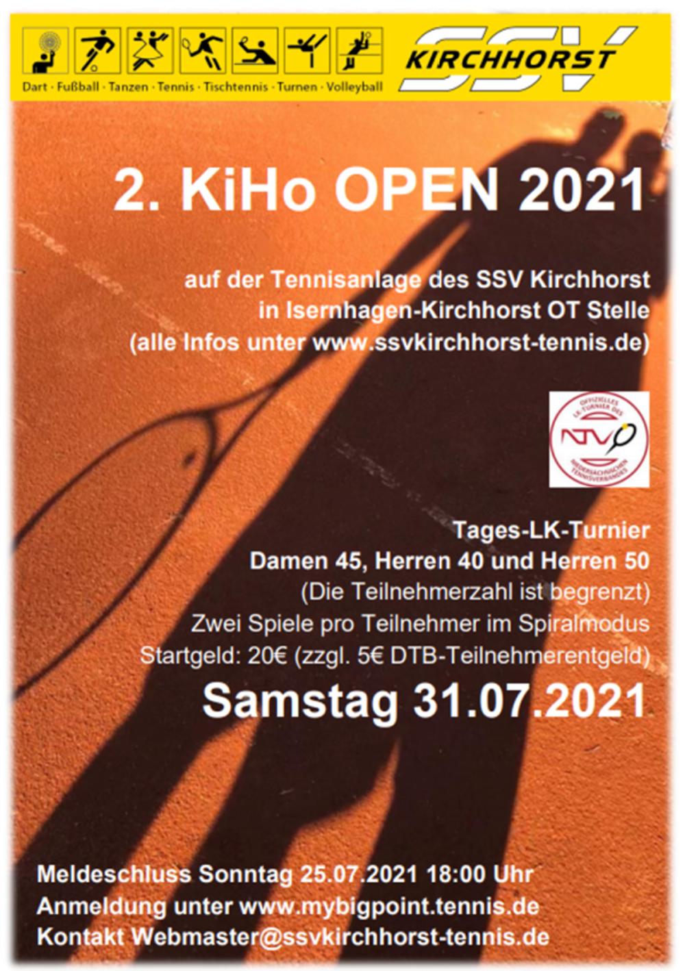 2. KiHo Open 2021 beim SSV Kirchhorst in Isernhagen