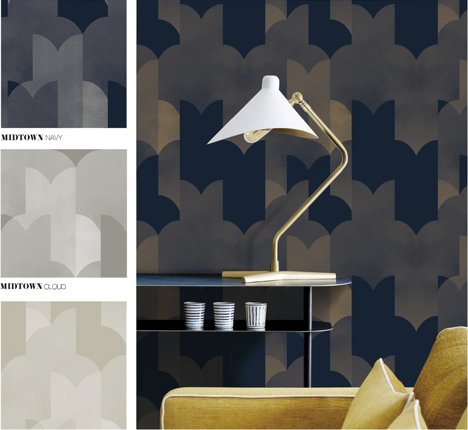 UPTOWN - Wallpaper - Surface pattern design - GRAHAM & BROWN -Design competition