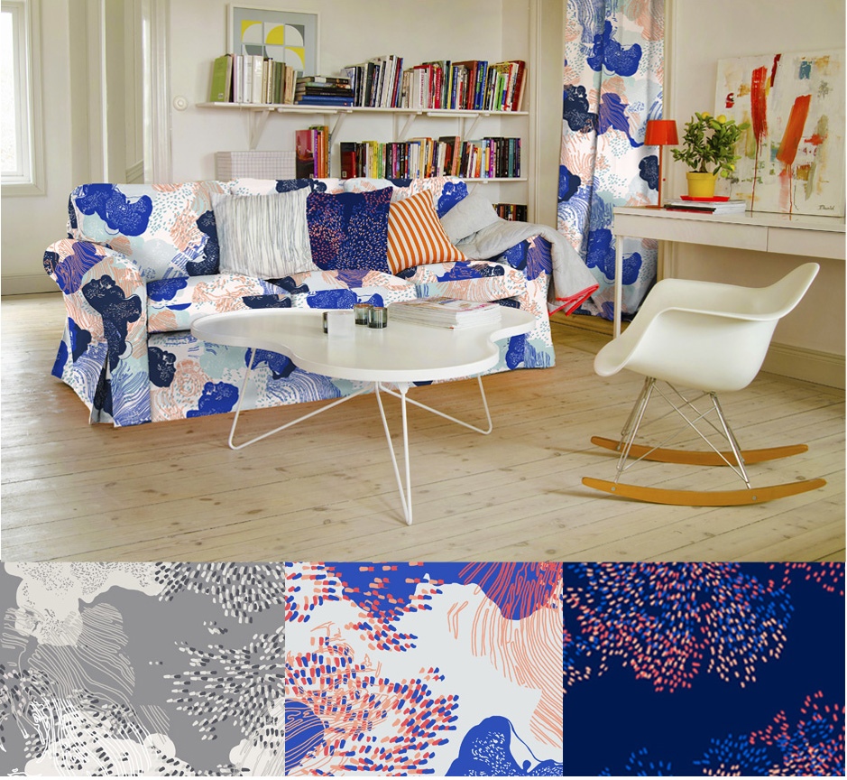 TWISTED WOODS - Home textile - Surface pattern design - BEMZ -Design competition