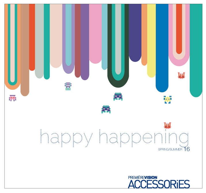 HAPPY - Illustration - Graphic design - Première Vision Accessories - Recherches