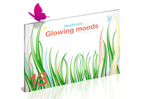 GLOWING MOODS  -  DA & réalisation - Surface pattern design - Édition - Trend book - Modamont