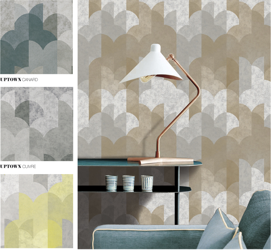 MIDTOWN - Wallpaper - Surface pattern design - GRAHAM & BROWN -Design competition