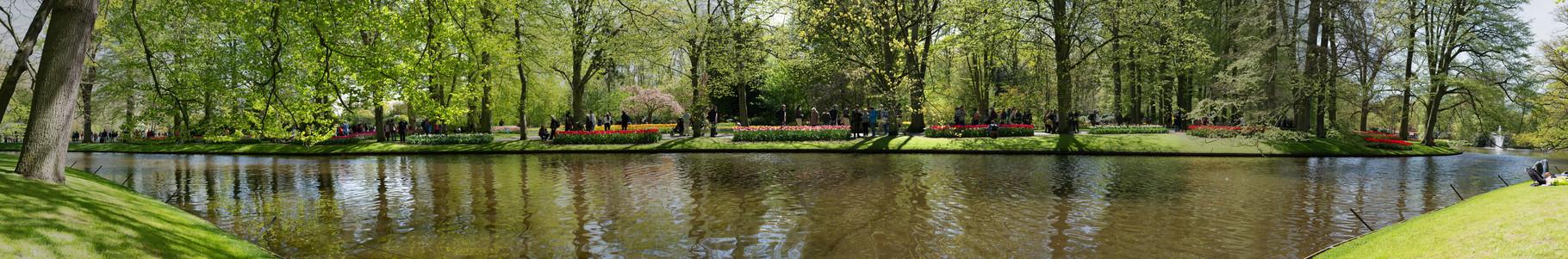 Vue du parc Keukenhof, Amsterdam. 120°, 7 photographies.