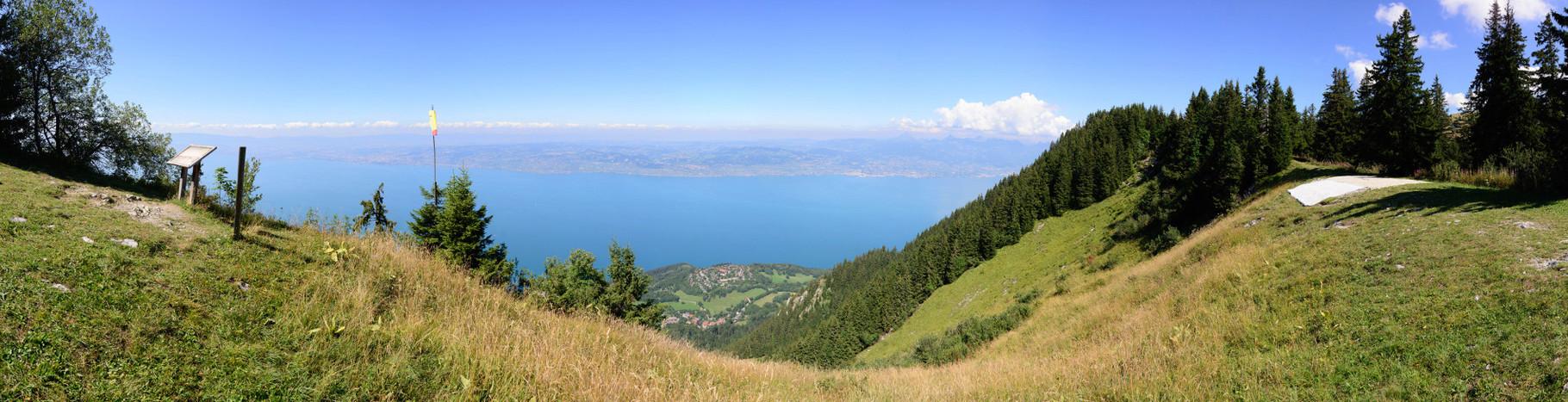 Sur les hauteurs du Lac Léman. 140°, 9 photographies.