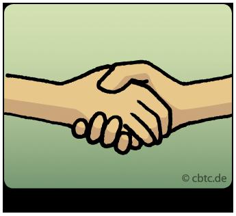 Werte im Coaching: Bild zeigt zwei Hände, die sich schütteln. Es geht darum, sich auf gemeinsame Werte im Coaching zu einigen.