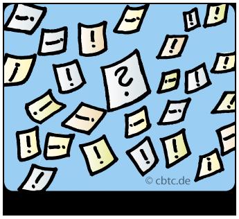 Zusammenhänge klären, systemisch arbeiten. Bild zeigt viele kleine Zettel. Auf diesen werden zu Beginn des Coachings alle Begriffe, die mit dem Thema zusammenhängen, aufgeschrieben.