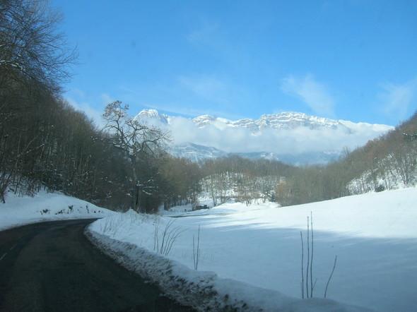 Route du village en hiver