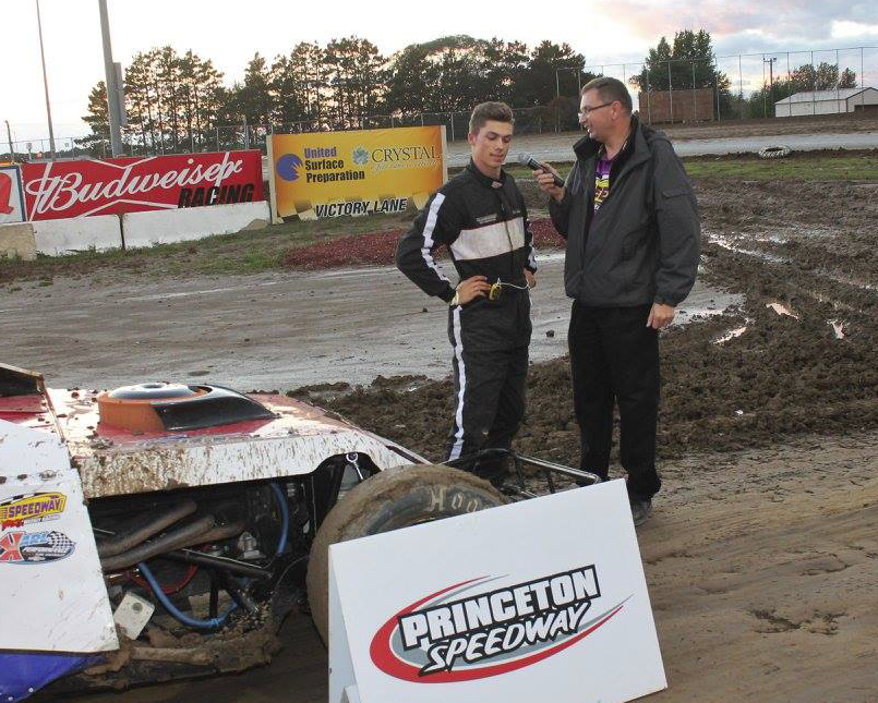 Victory lane interview !