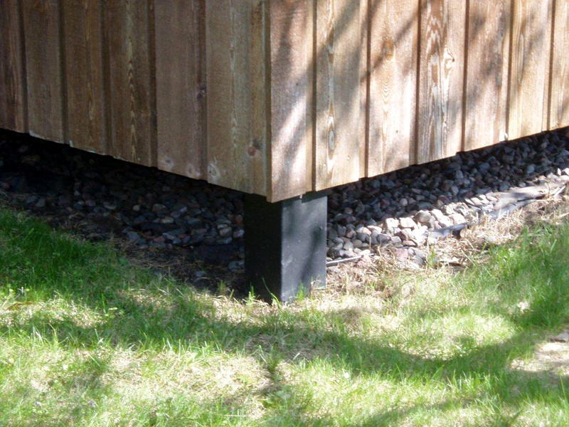 Small shed foundation