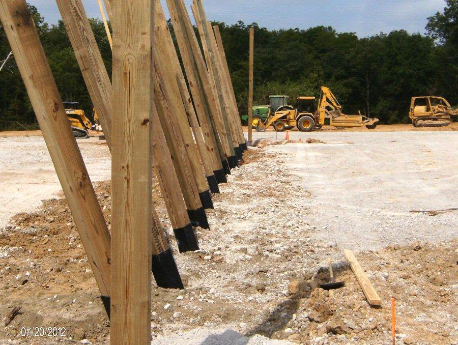 Posts ready to plumb