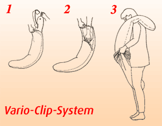 Stillkissen anpassen - Vario-Clip-System