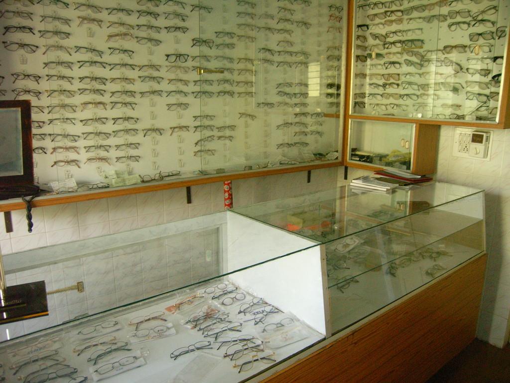 Gebrauchte Brillen werden wieder verwendet.