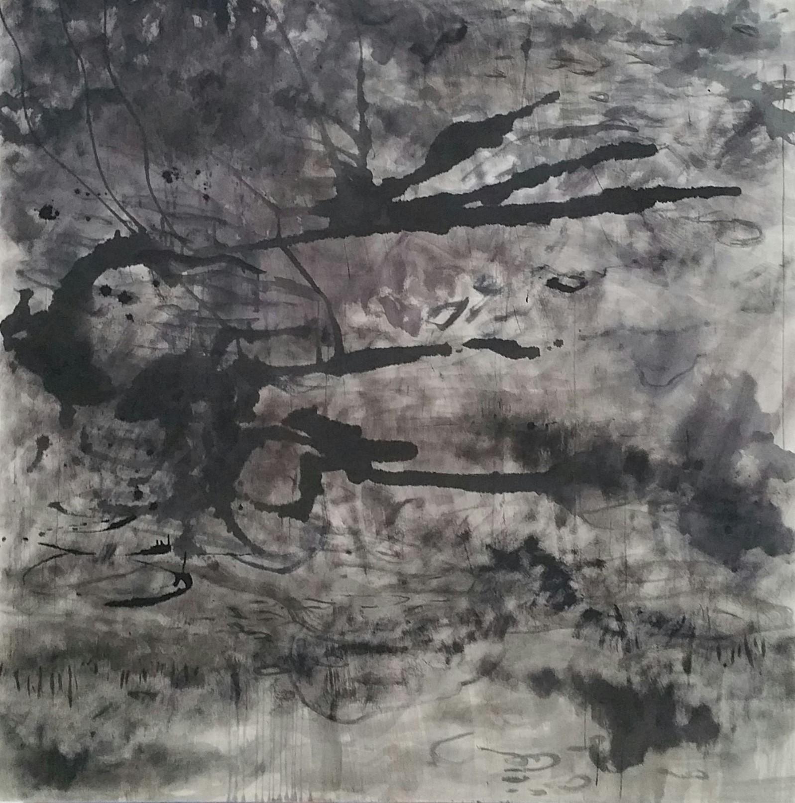 Acryl und Tusche auf Arles 190 * 190 cm
