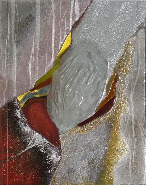 """tableau verre """"cocon"""" 40 x 50 cm"""