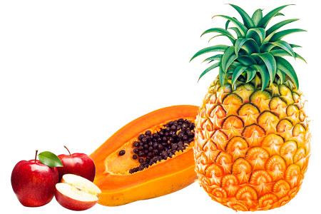 Jugo digestivo de manzana, piña y papaya