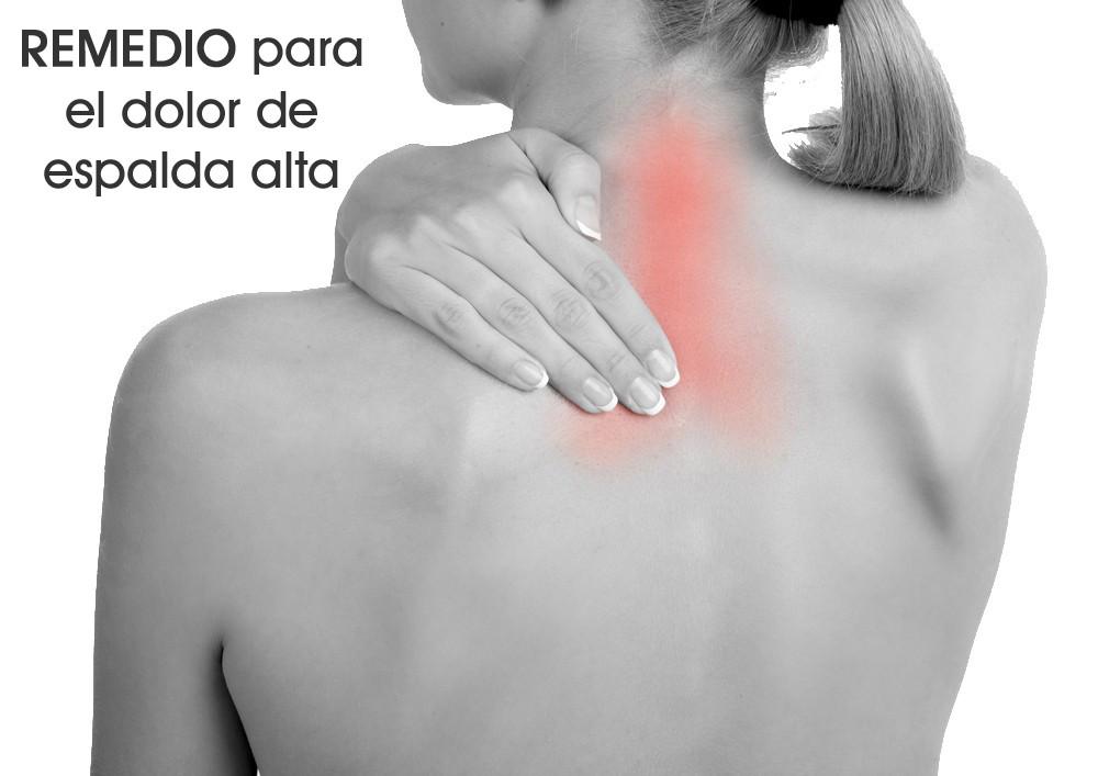 Remedio para el dolor de espalda alta