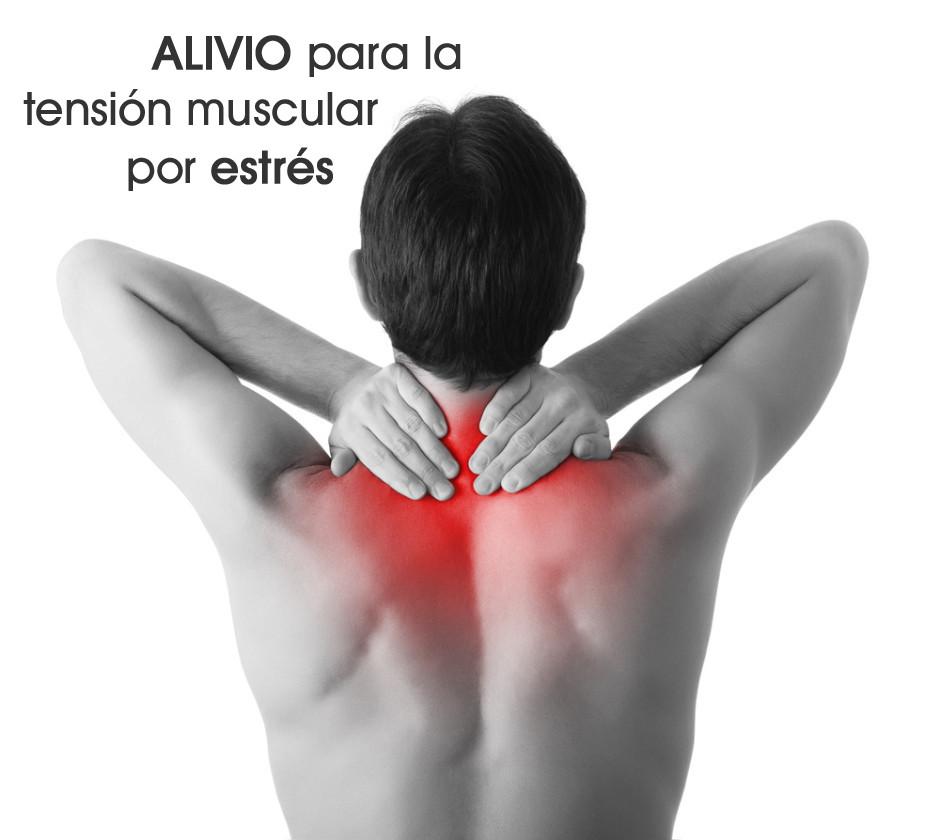 Alivio para la tensión muscular por estrés