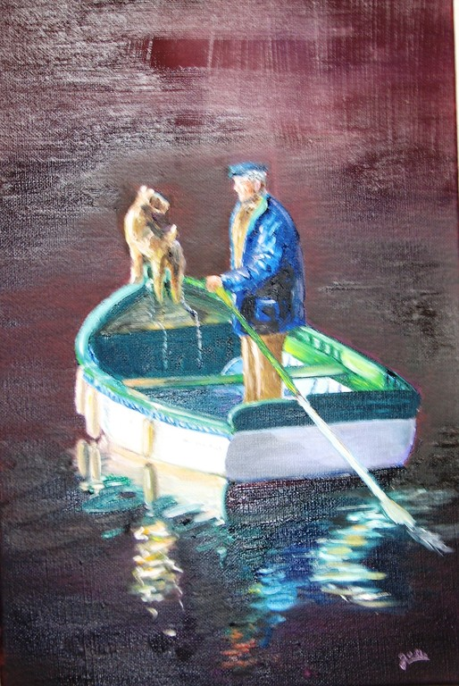 pécheur et son chien