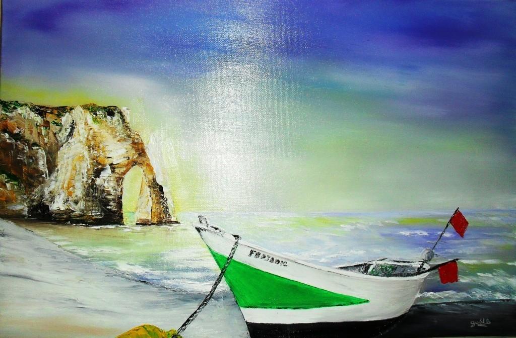 barque a etretat